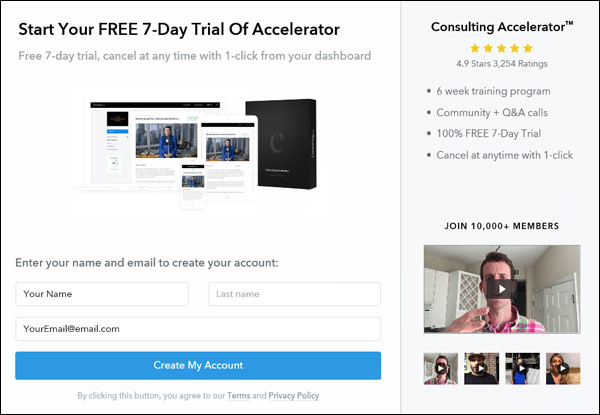 Free trial of Consulting Accelerator