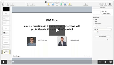 Consulting Accelerator Questions and Answer Session Screenshot