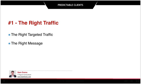 right traffic and right message for clients